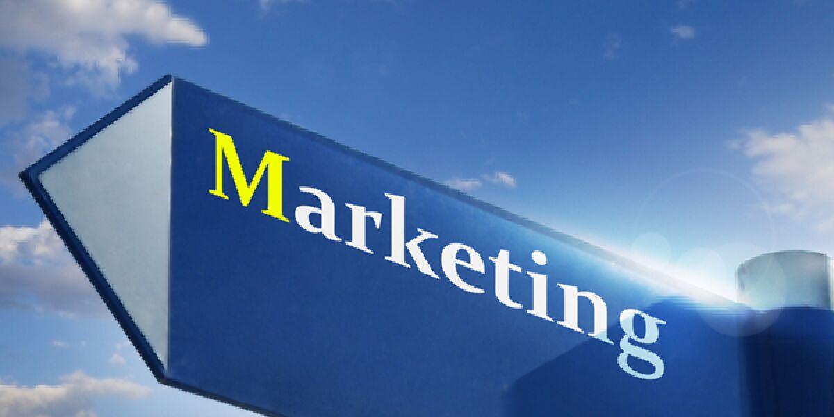 Marketing-Pfeil