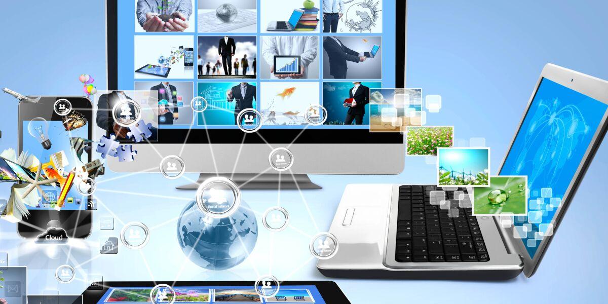 Laptop, Smartphone,TV und Tablet