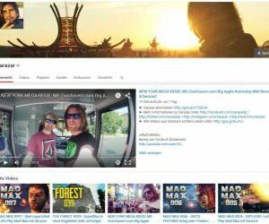 Screenshot von der Sarazar Youtube-Seite