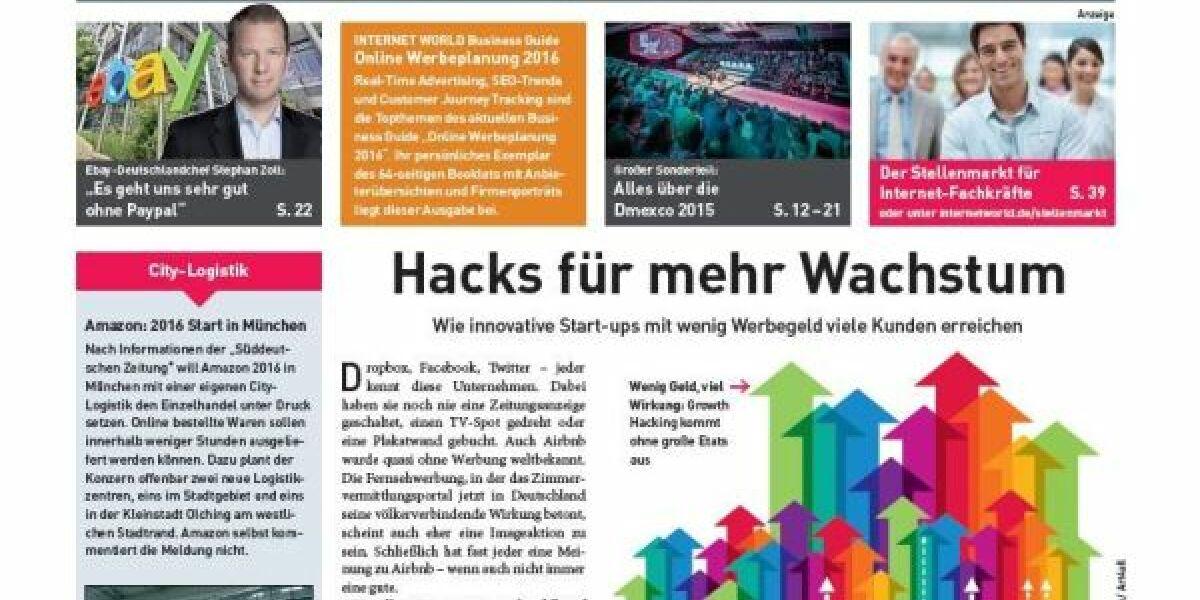 Das Cover der 19. Ausgabe der INTERNET WORLD Business