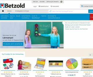 Screenshot der Betzold Versandhandel-Website