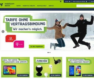 Screenshot der Mobilcom-Debitel-Seite
