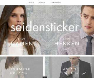 Screenshot vom Seidensticker-Shop