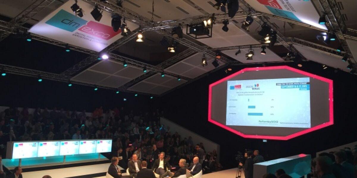 Die digitale Transformation stand im Mittelpunkt einer Diskussion in der Debate Hall auf der dmexco