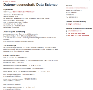 Ausbildung zum Data Scientist: Die TU Dortmund ist eine der wenigen Universitäten in Deutschland, die einen kompletten Studiengang anbieten.