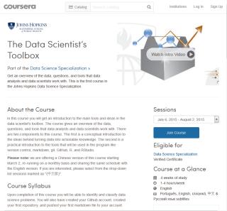 Online-Kurse: Auf der Webseite von Coursera gibt es kostenlose Fortbildungsangebote zum Thema Data Science.