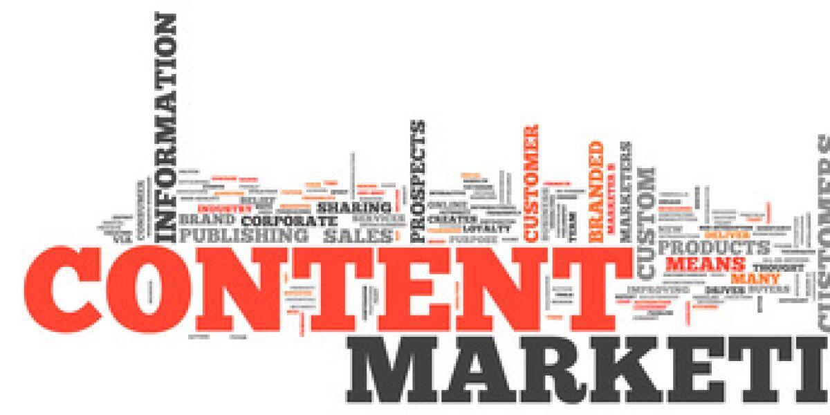 Content Marketing Wörter-Cloud