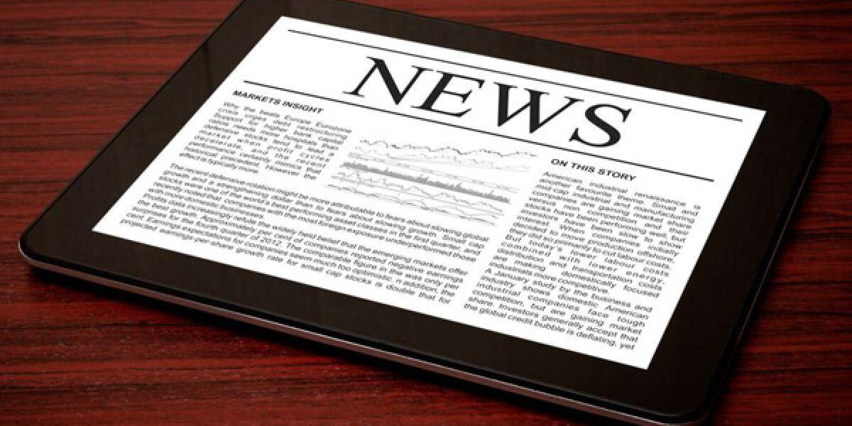 Tablet mit News