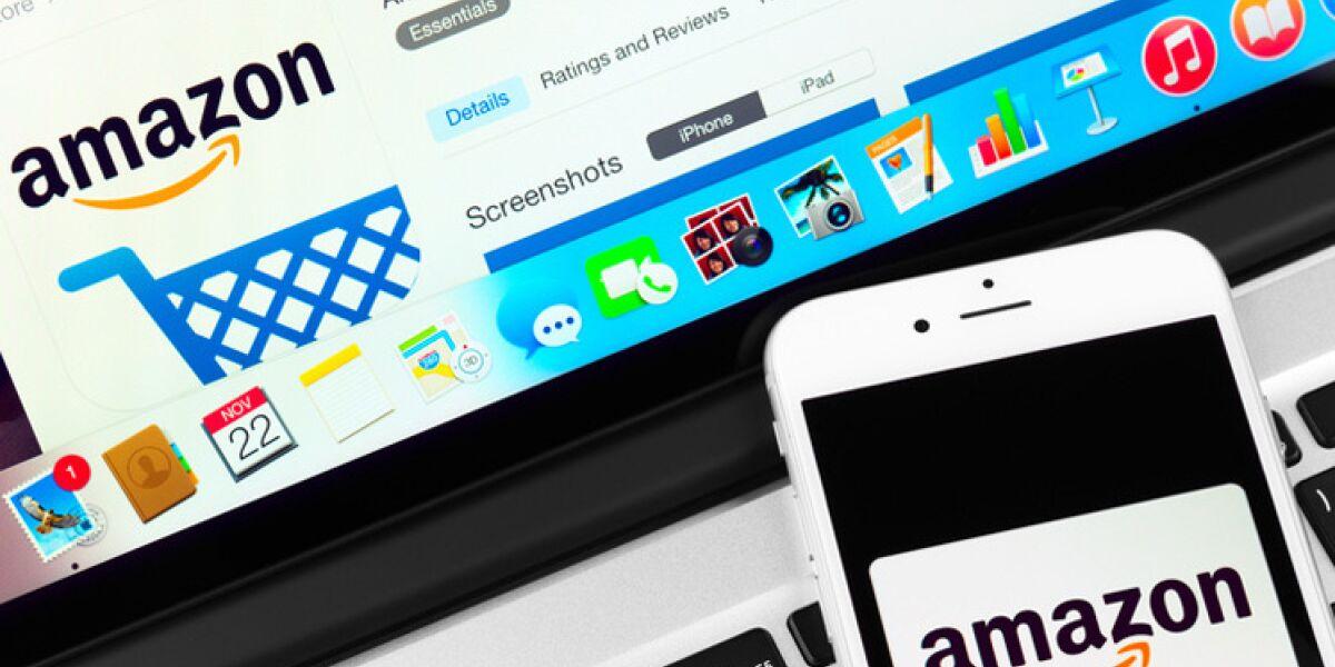 Amazon-App  auf Smartphone udn Notebook