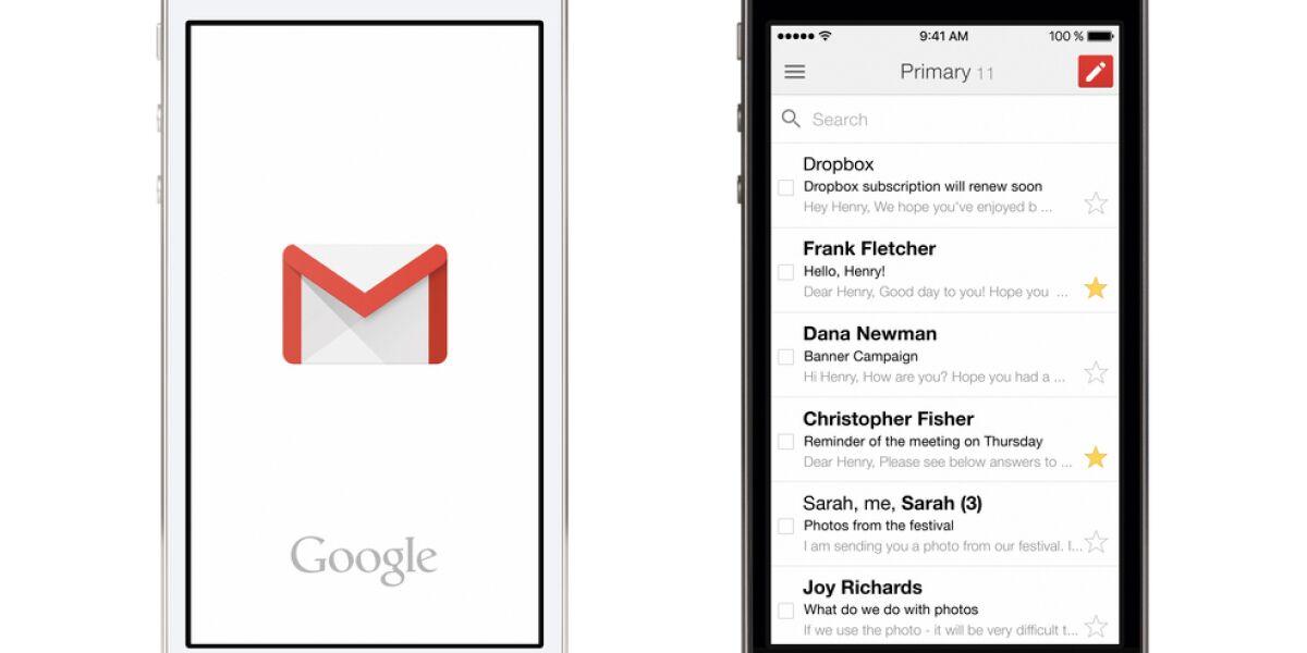 Smartphones mit Gmail-Logo