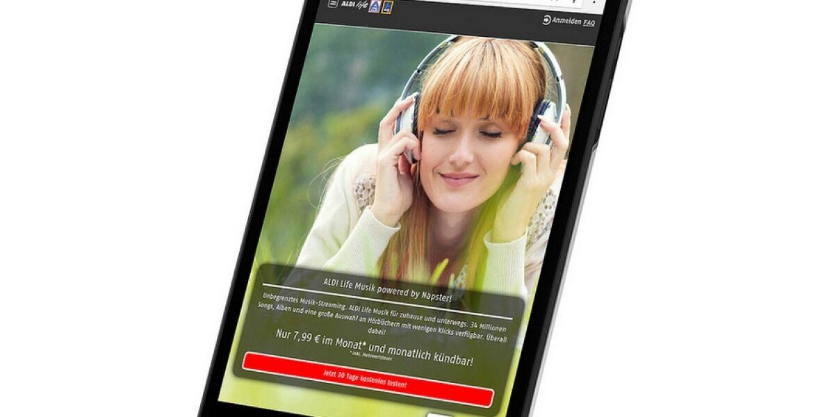 Musik-Streaming mit Aldi Life Musik