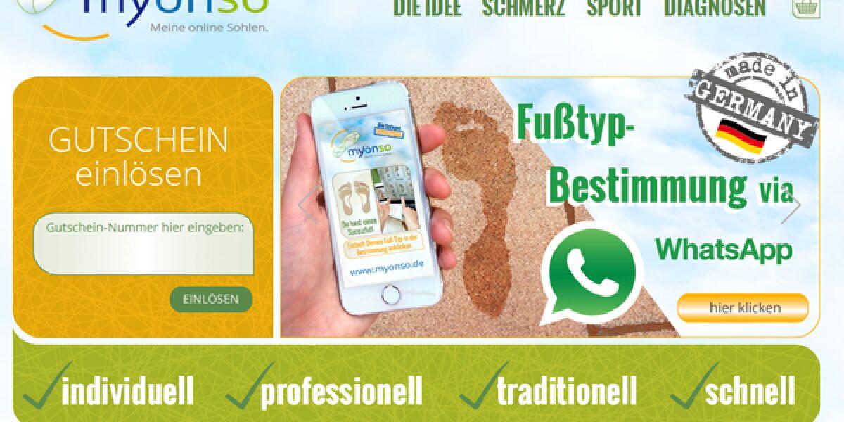 Website von myonso.de
