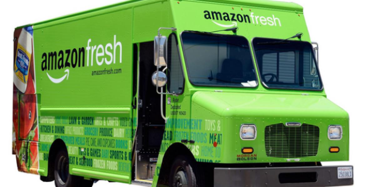 Fahrzeug aus der Amazon-Fresh-Flotte