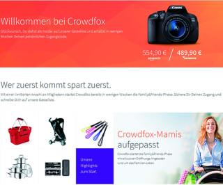 Screenshot von Crowdfox
