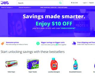 Screenshot von jet.com