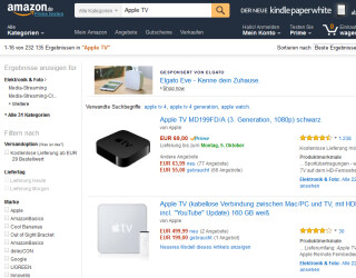 Apple TV auf Amazon