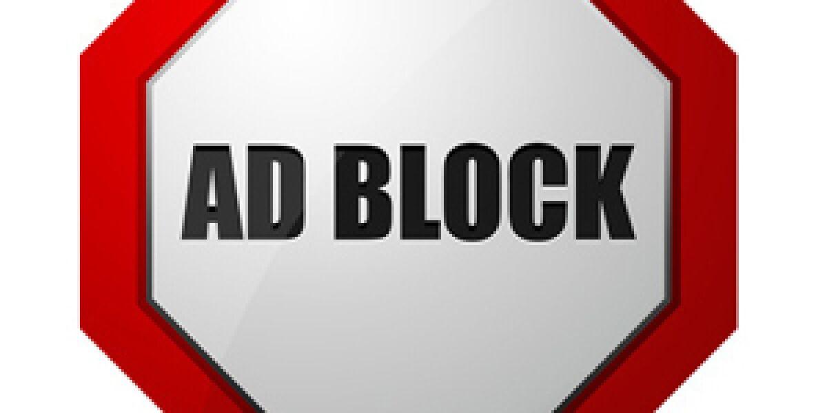 Adblock Schild