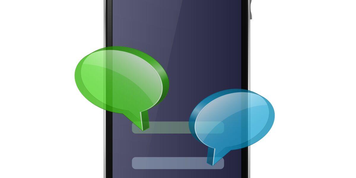 Handy mit Sprechblasen