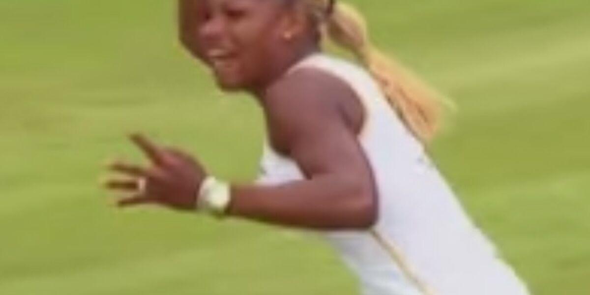 Serena Williams beim Tennisspielen