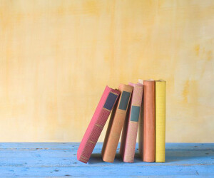 Bücher gegeneinander gelehnt