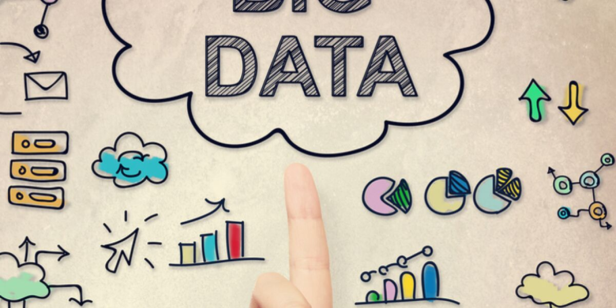 Finger zeigt auf Big Data