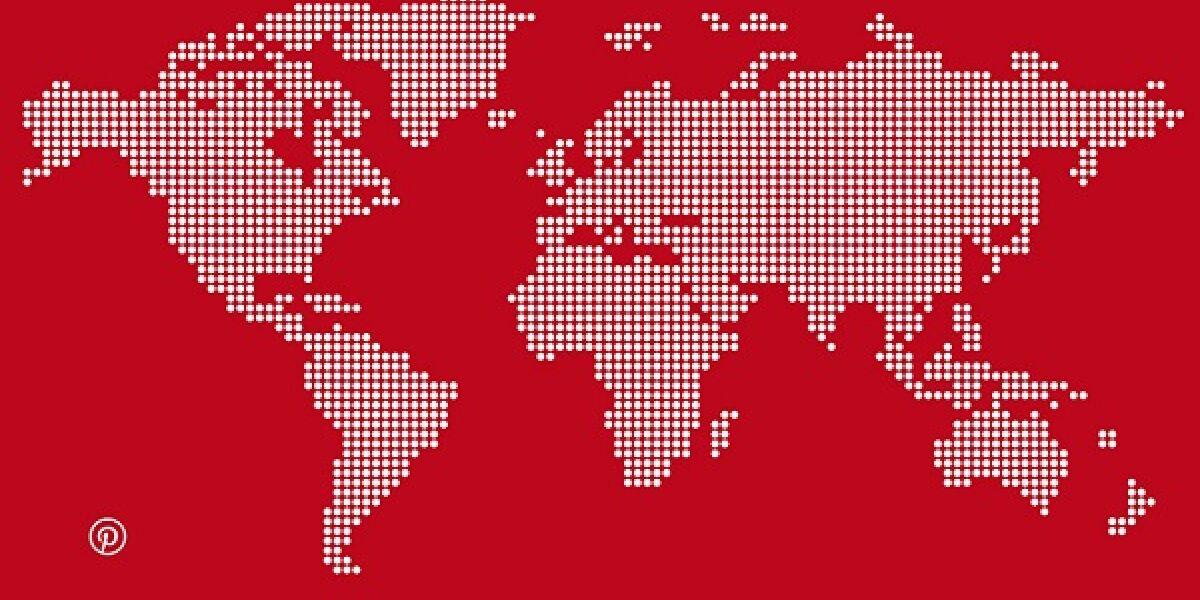Weltkarte Pinterest