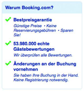 Booking.com Argumente