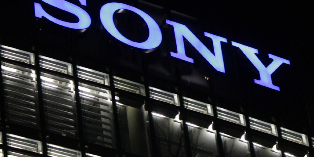 Sony-Logo auf Gebäude
