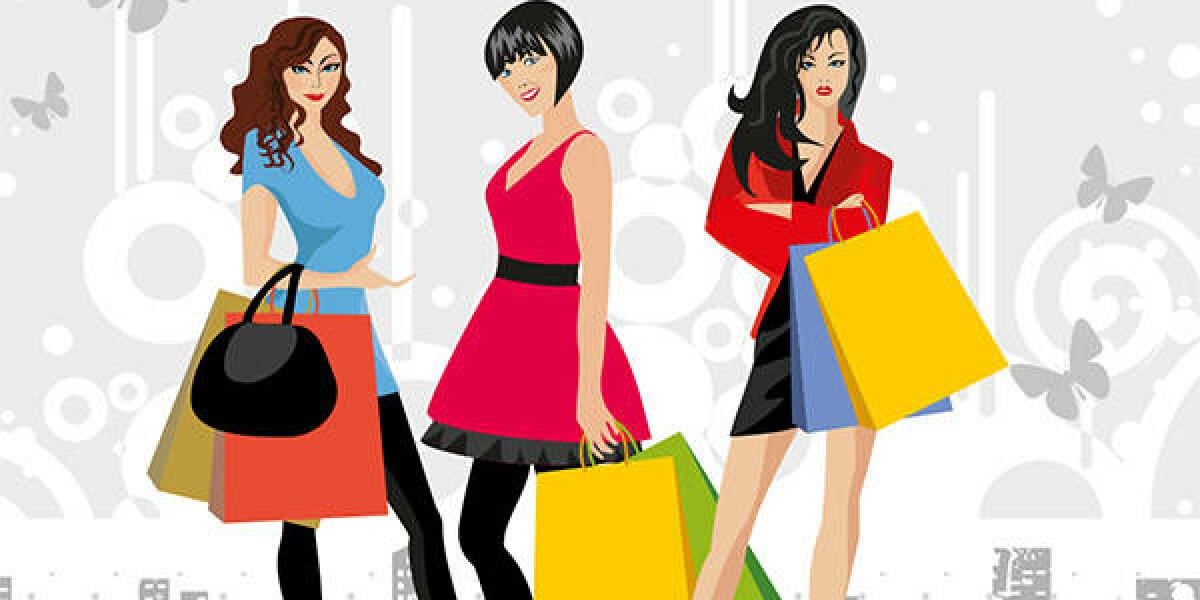 Frauen mit Einkaufstaschen