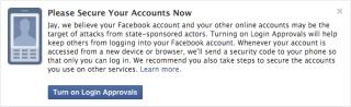 Facebook Warnung vor staatlichen Hackern