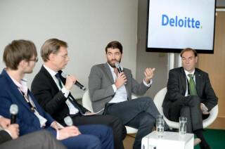 Diskussionsrunde auf den Medientagen München