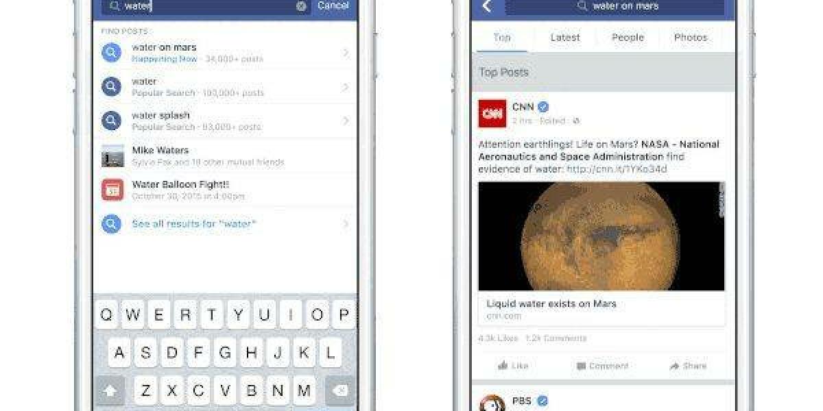 Handy mit Facebook-Suche