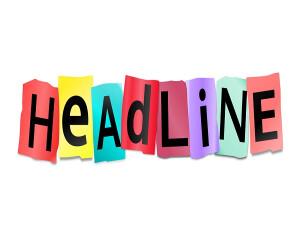 Headline in bunten Buchstaben