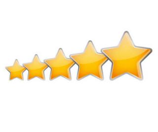 Fünf gelbe Sterne