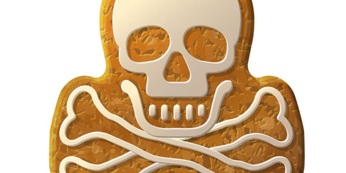 Keks in Totenkopf-Form