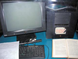 Der erste Webserver der Welt auf einem NeXTcube-Rechner am CERN bei Genf.