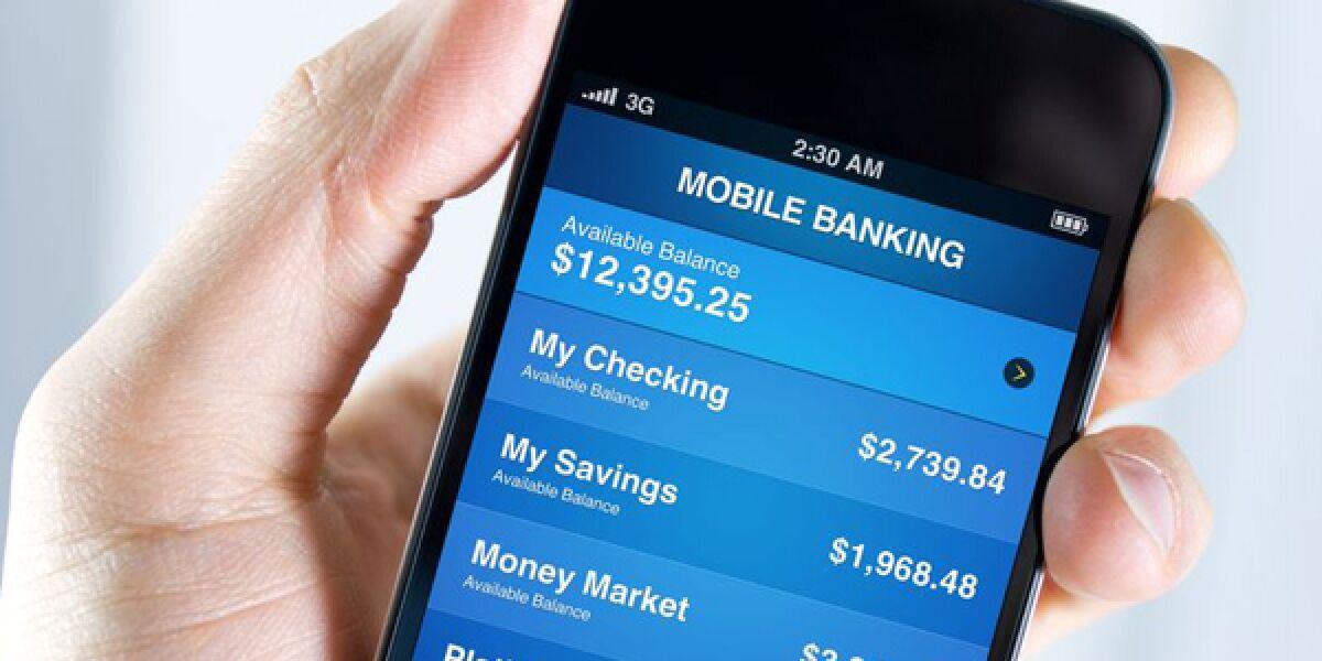 Mobile Banking auf dem Smartphone