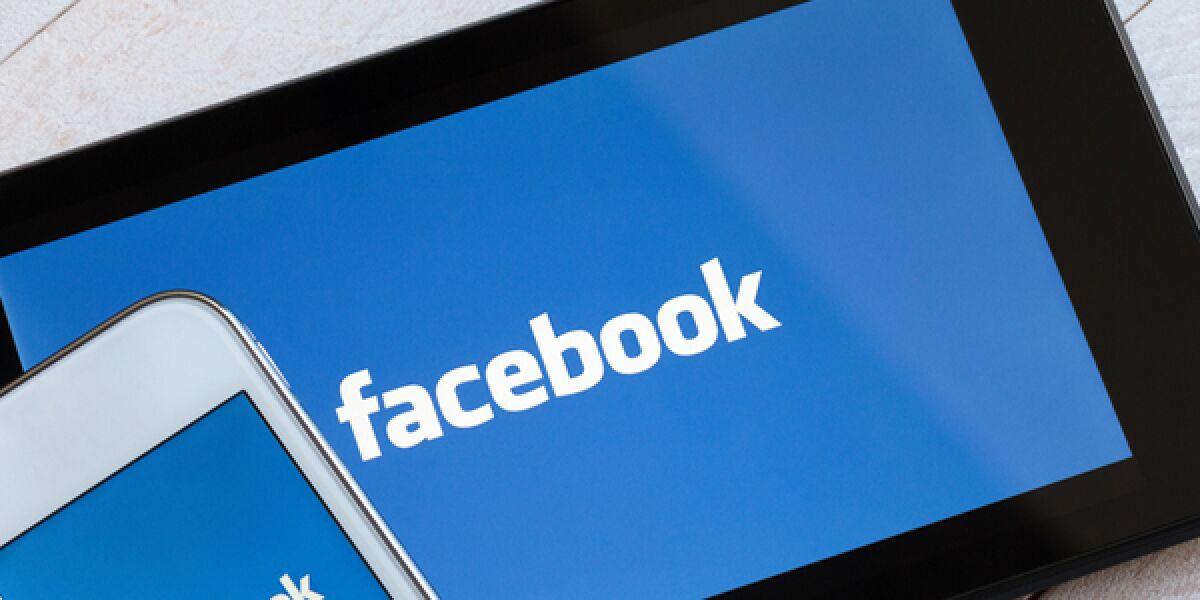 Facebook Handy und Tablet