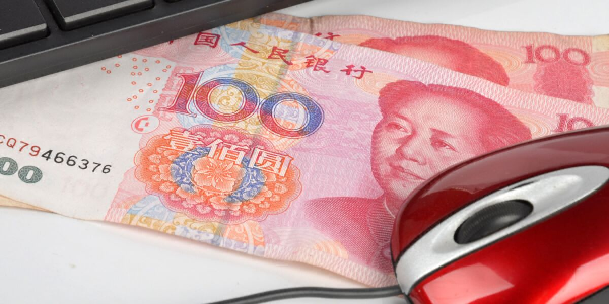 Yuan liegen bei Maus und Tastatur
