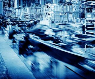 Produktionstechnik in einer Fabrik