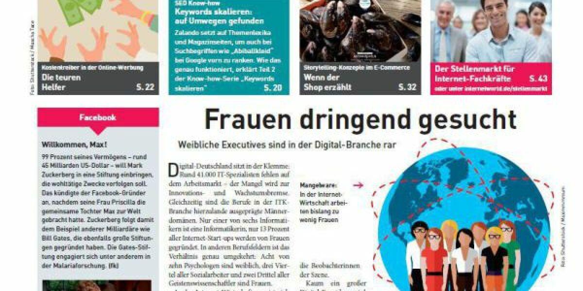 Das Cover der 25. Ausgabe der INTERNET WORLD Business