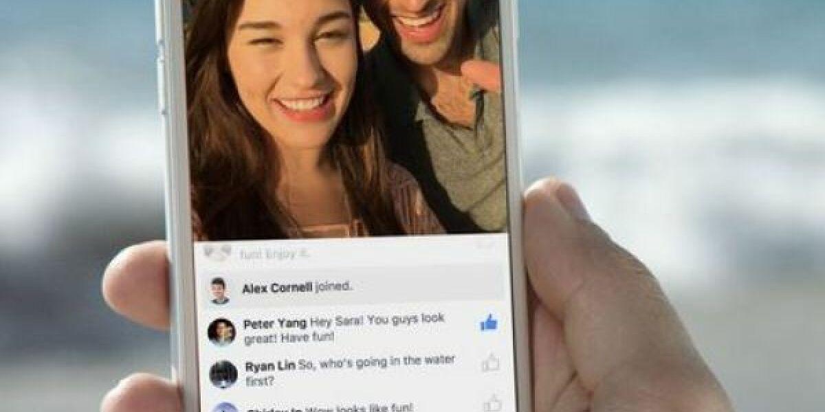 Ein Facebook-Livestream