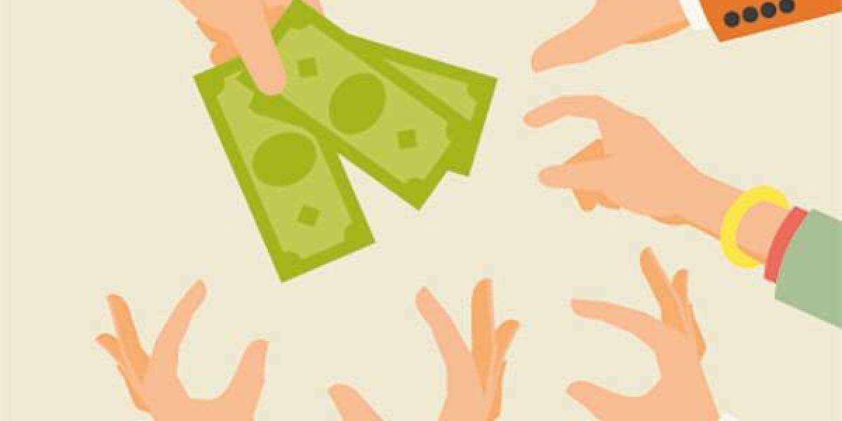 Viele Hände wollen das Geld