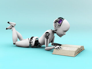 Maschine beim lernen