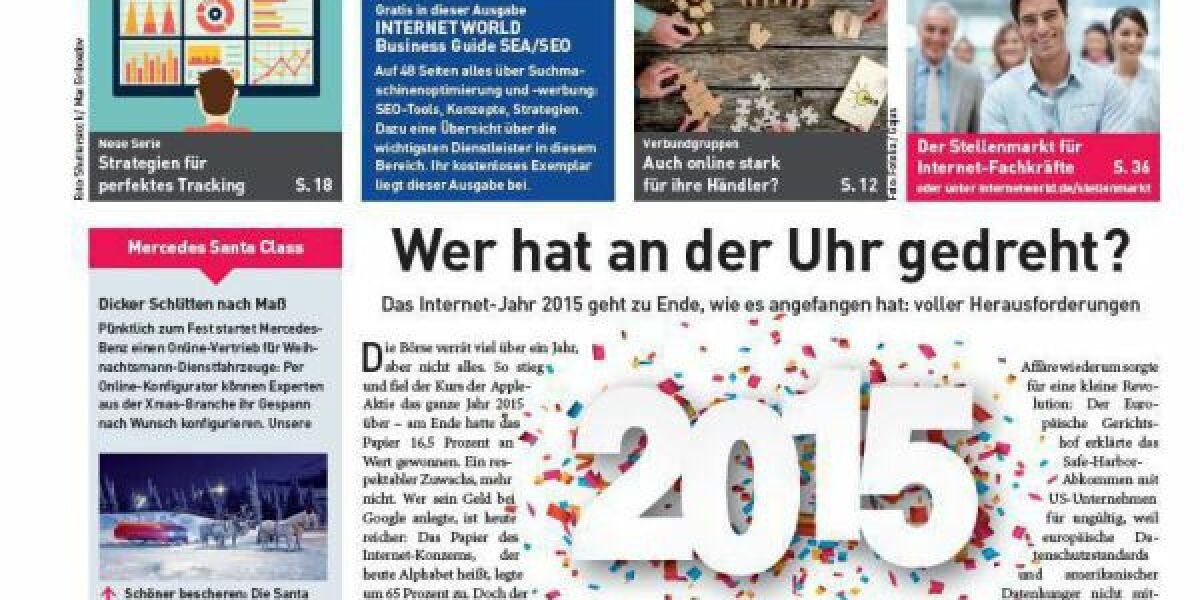 Cover der 26. Ausgabe der INTERNET WORLD Business