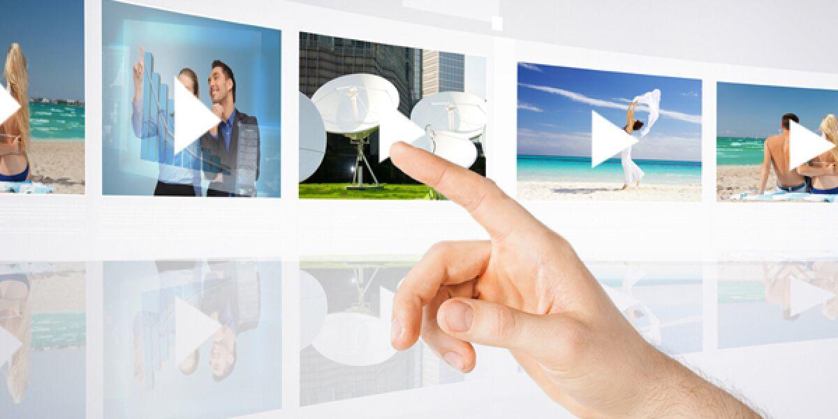 Figner tippt auf Video-Bilder