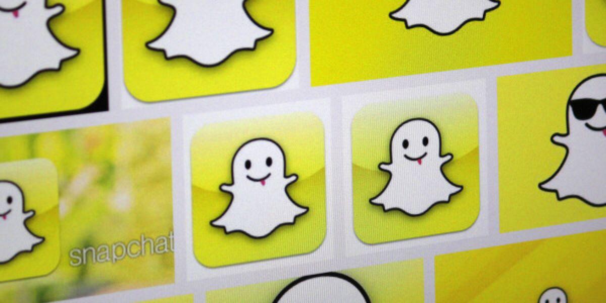 Verschiedene Snapchat-Geister