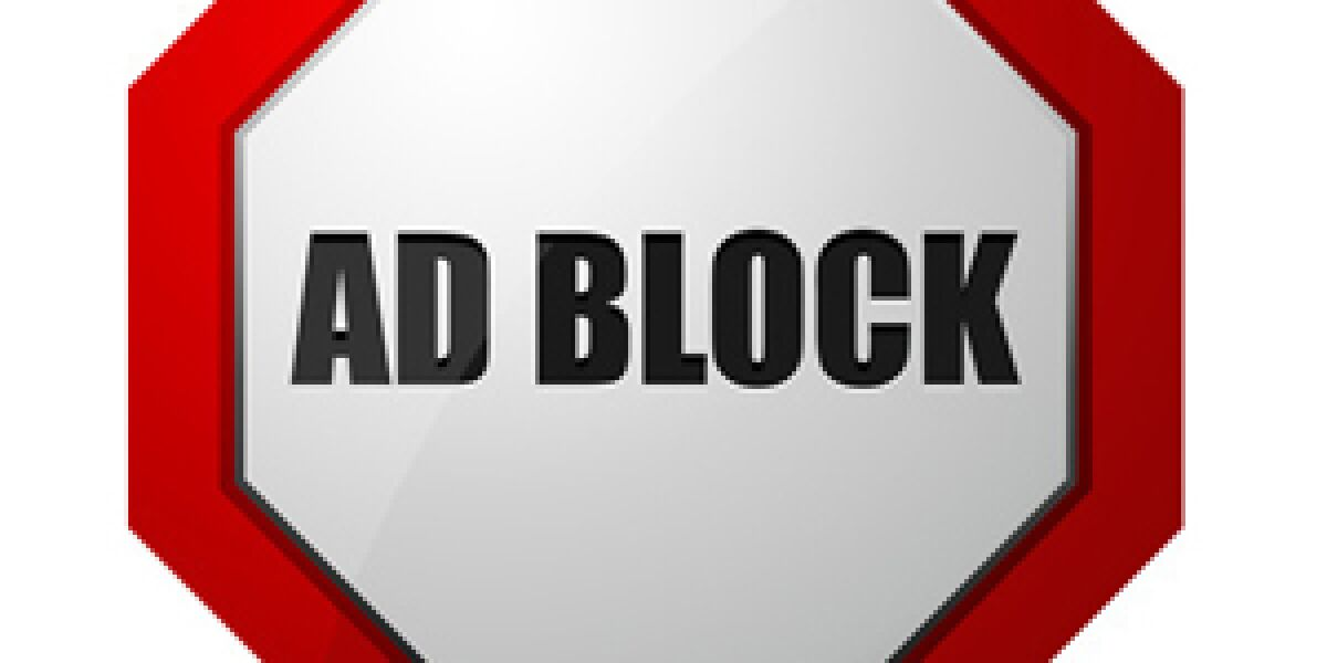 Adblocker Stoppschild