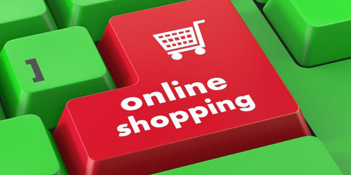 Tastatur mit Online Shopping