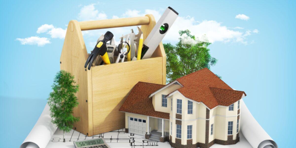 Bauplan, Werkzeugkasten, Haus